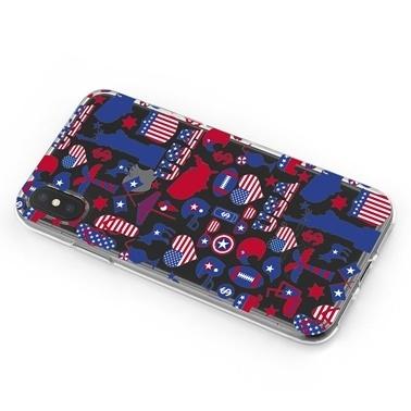 Lopard iPhone Xs Max Kılıf Silikon Arka Koruma Kapak New York Desenli Renkli